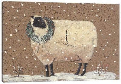 Christmas Sheep Canvas Art Print