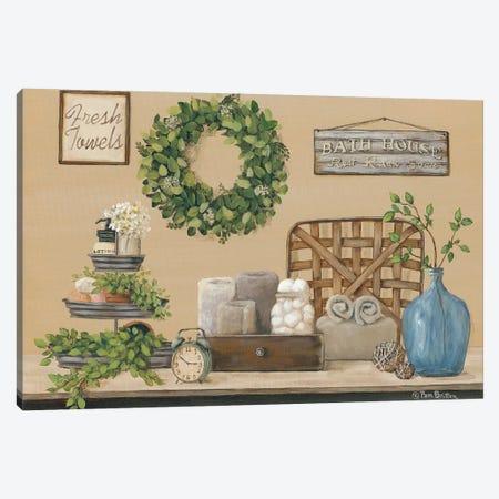 Farmhouse Bath I Canvas Print #PBR2} by Pam Britton Canvas Print