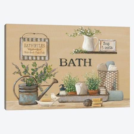 Farmhouse Bath II Canvas Print #PBR3} by Pam Britton Art Print