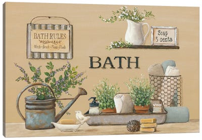 Farmhouse Bath II Canvas Art Print