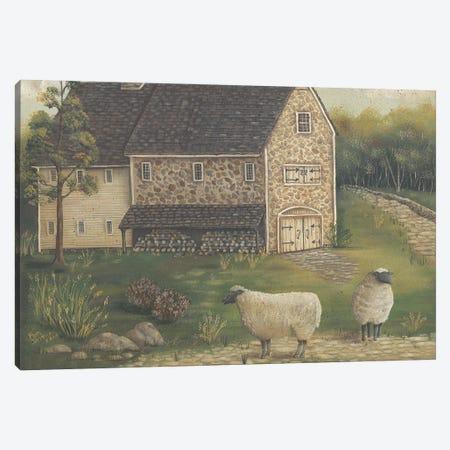 Stone Barn Canvas Print #PBR45} by Pam Britton Canvas Art Print