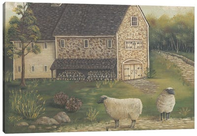 Stone Barn Canvas Art Print