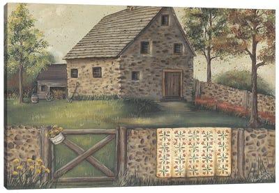 Stone House Retreat Canvas Art Print
