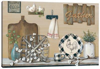 Farmhouse Kitchen Canvas Art Print