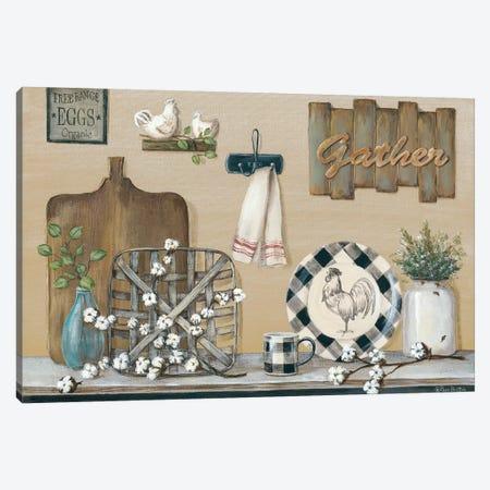 Farmhouse Kitchen Canvas Print #PBR4} by Pam Britton Canvas Wall Art