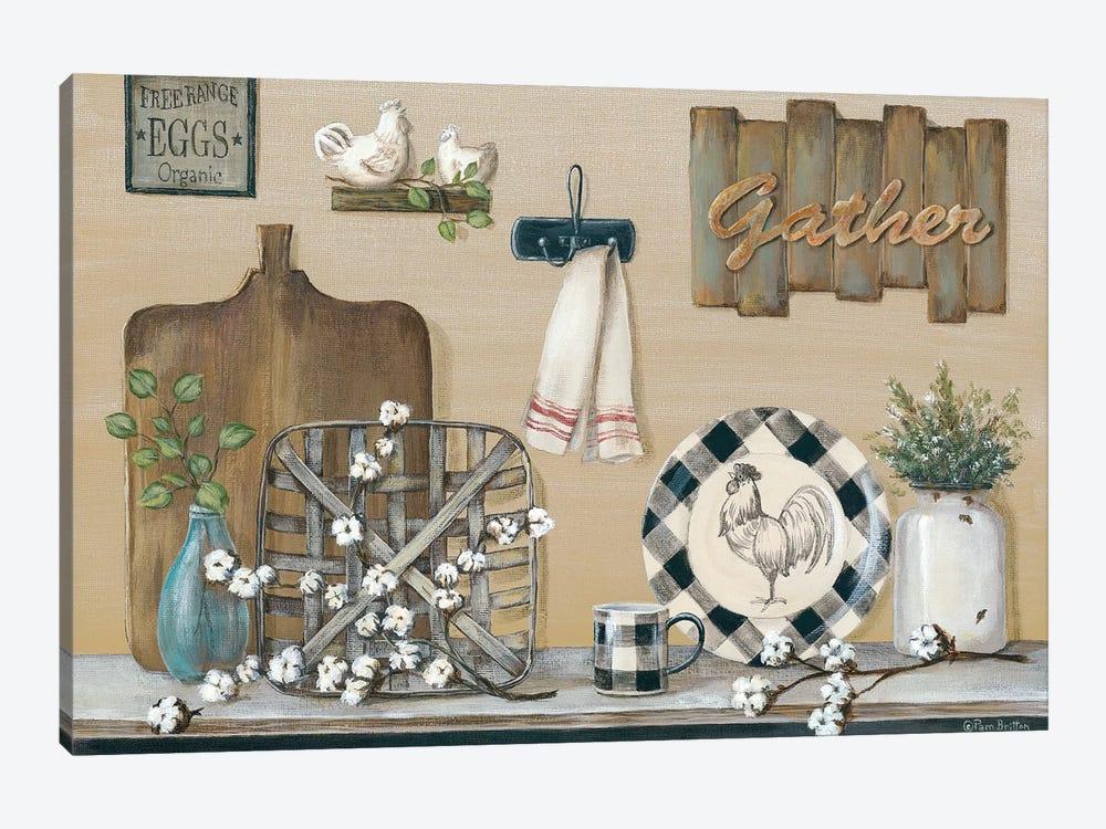 Farmhouse Kitchen by Pam Britton 1-piece Canvas Artwork