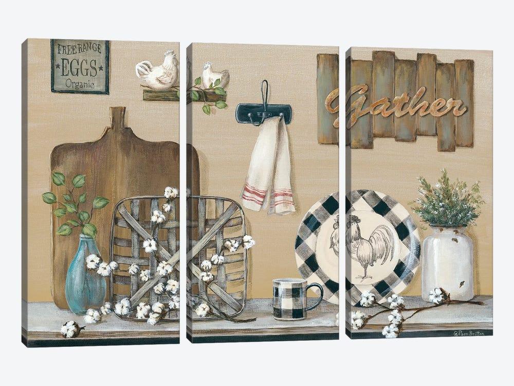 Farmhouse Kitchen by Pam Britton 3-piece Canvas Art
