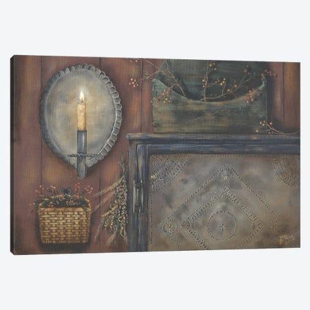 Tin Sconce Canvas Print #PBR55} by Pam Britton Canvas Artwork