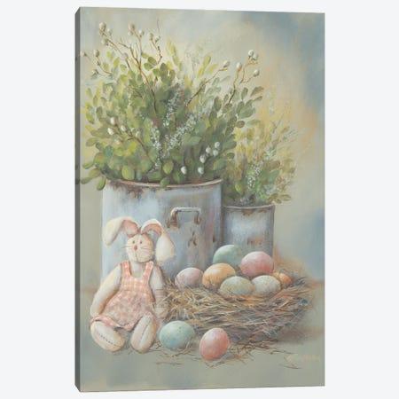 Rustic Easter Vignette Canvas Print #PBR58} by Pam Britton Art Print