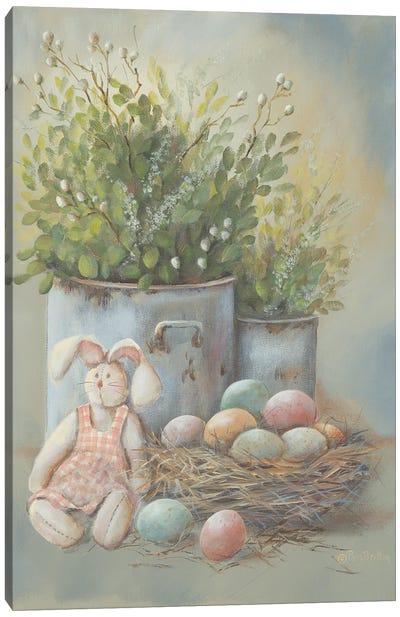 Rustic Easter Vignette Canvas Art Print