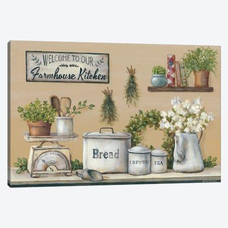 Garden Farmhouse Kitchen Canvas Print #PBR5} by Pam Britton Canvas Wall Art