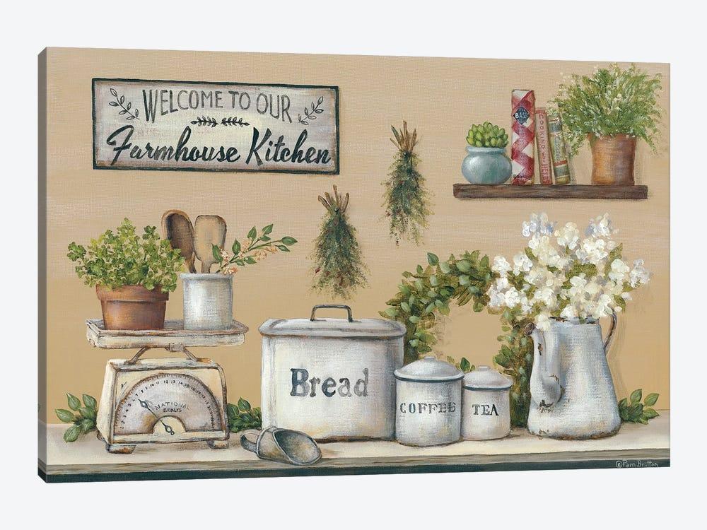 Garden Farmhouse Kitchen by Pam Britton 1-piece Canvas Print