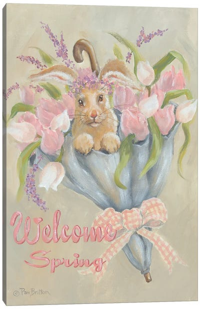 Spring Bunny Canvas Art Print
