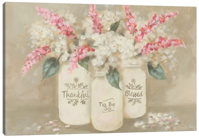 Thankful To Be So Blessed Canvas Art Print