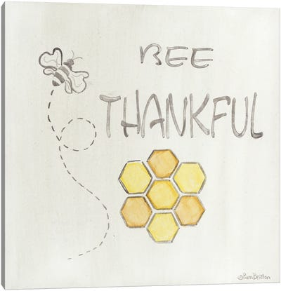Bee Thankful Canvas Art Print