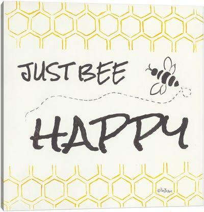 Just Bee Happy Canvas Art Print