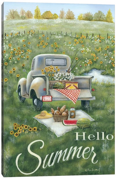 Hello Summer Canvas Art Print