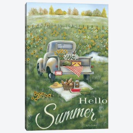 Hello Summer Canvas Print #PBR6} by Pam Britton Canvas Artwork