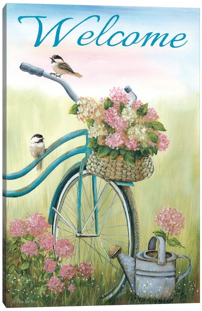 Old Bike Welcome Canvas Art Print