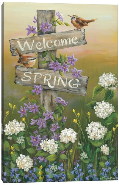 Welcome Spring Canvas Art Print