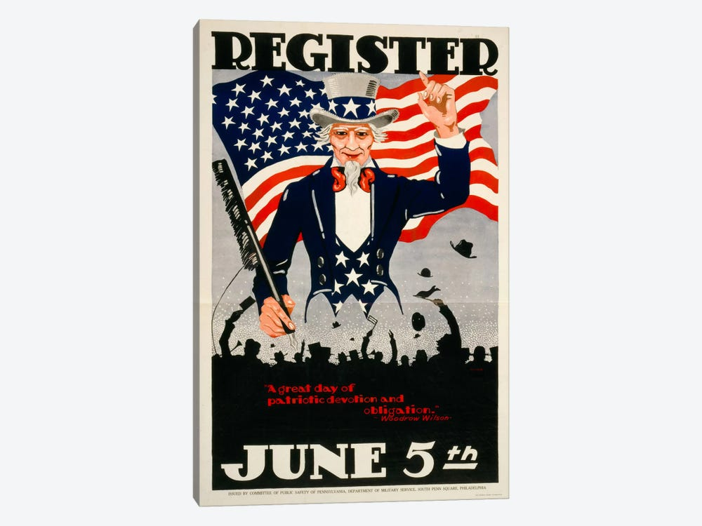 Register June 5th, 1917, WWI by Print Collection 1-piece Canvas Artwork