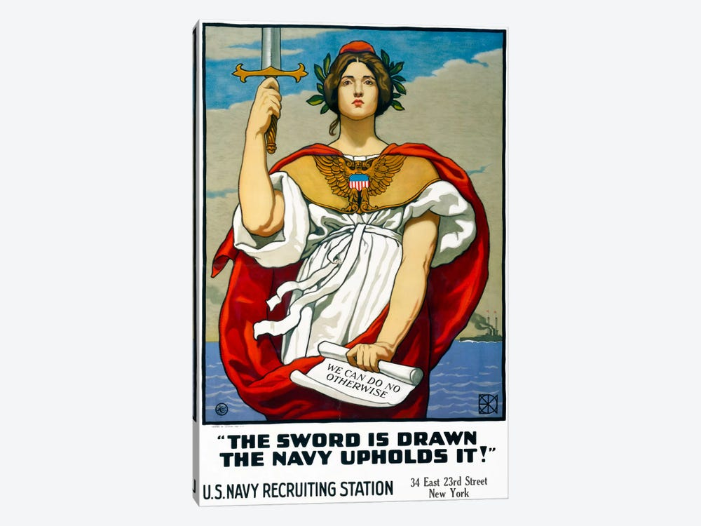 The Sword is Drawn, the Navy Upholds It! by Print Collection 1-piece Canvas Art Print