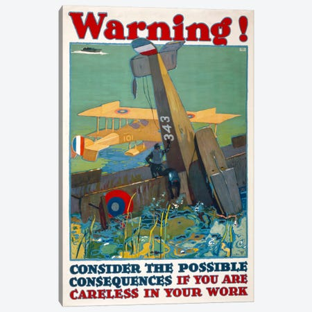 Warning! Consequences... Canvas Print #PCA103} by Print Collection Canvas Artwork