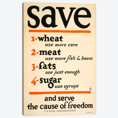 Save and Serve the Cause of Freedom Canvas Print #PCA105} by Print Collection Canvas Art Print