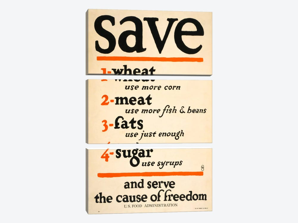 Save and Serve the Cause of Freedom by Print Collection 3-piece Canvas Print