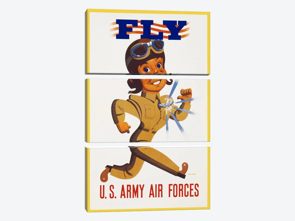 Fly U.S. Army Air Forces by Print Collection 3-piece Canvas Print