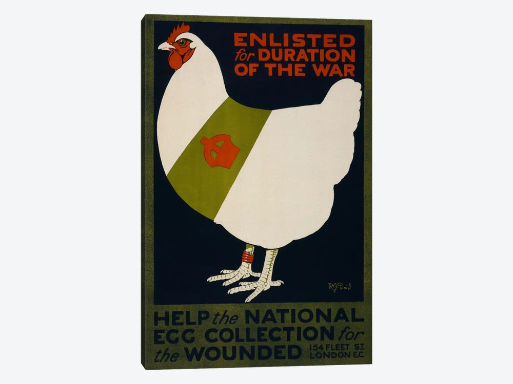 Help the National Egg Collection for the Wounded by Print Collection 1-piece Canvas Print