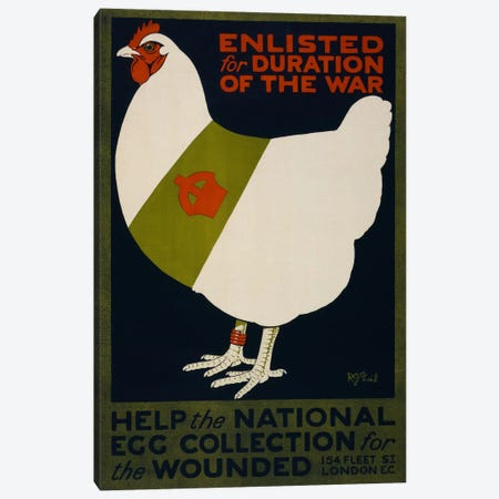 Help the National Egg Collection for the Wounded Canvas Print #PCA109} by Print Collection Canvas Artwork