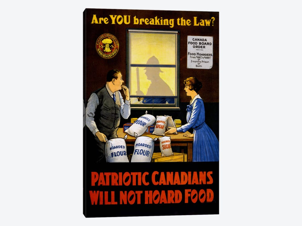 Canadians Will Not Hoard Food by Print Collection 1-piece Canvas Wall Art