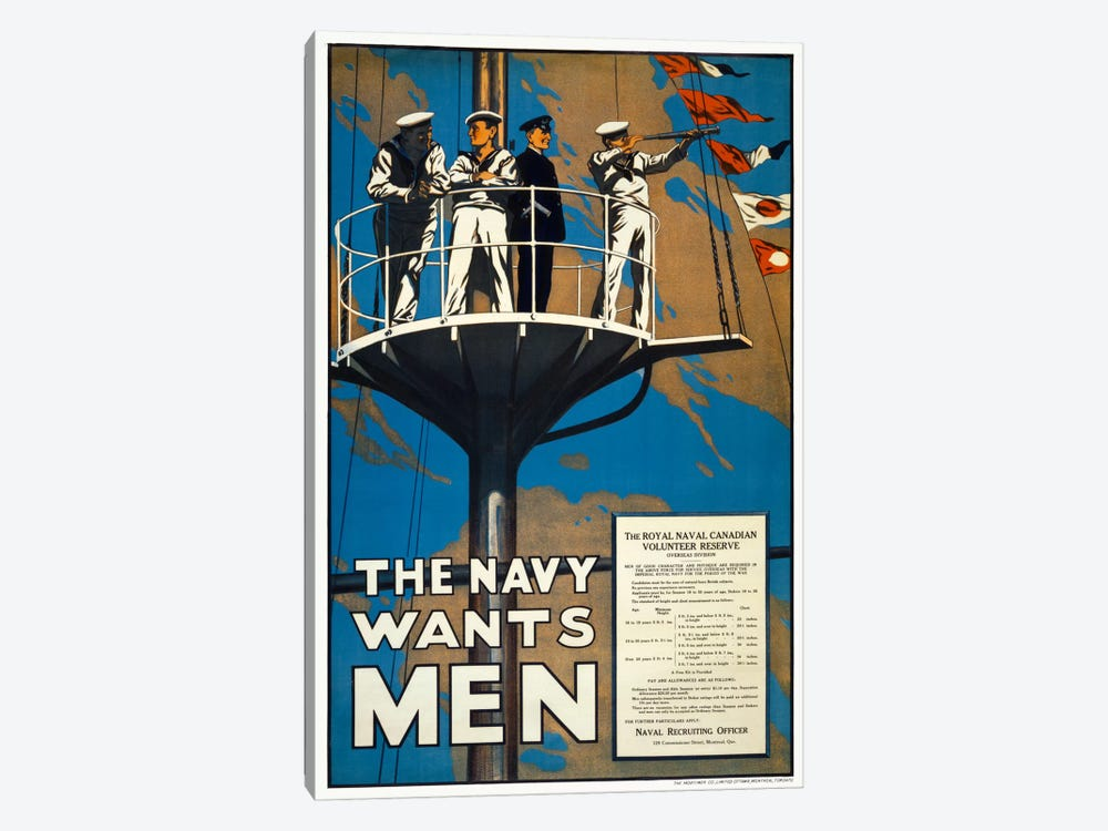 The Navy Wants Men by Print Collection 1-piece Canvas Art Print
