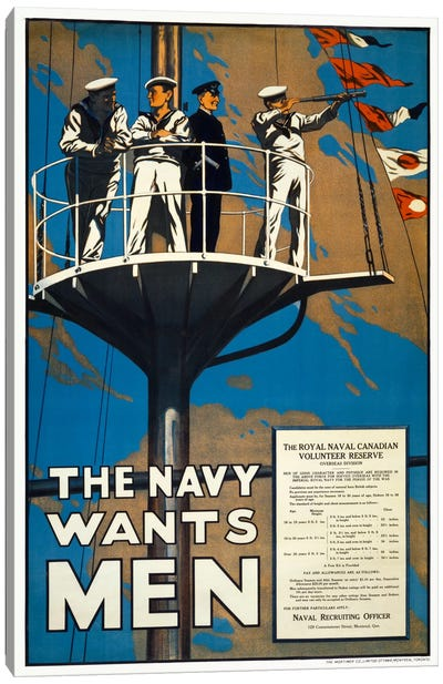 The Navy Wants Men Canvas Art Print