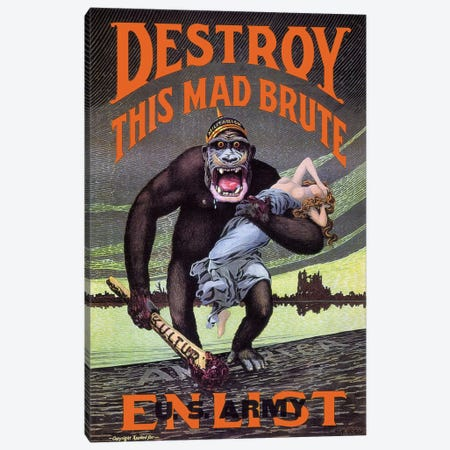 Destroy This Mad Brute Canvas Print #PCA115} by Print Collection Canvas Artwork