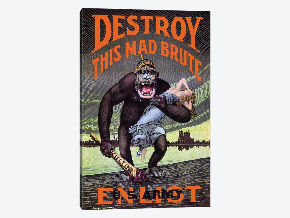 Destroy This Mad Brute by Print Collection 1-piece Canvas Wall Art