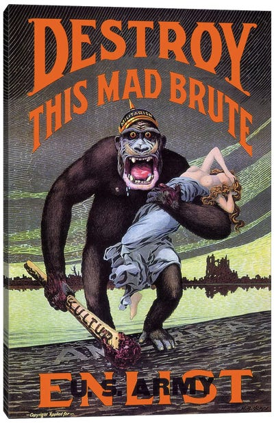 Destroy This Mad Brute Canvas Art Print