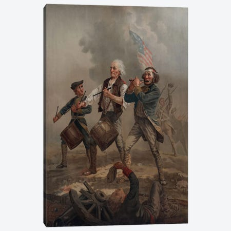 Yankee Doodle 1776 Canvas Print #PCA117} by Print Collection Canvas Wall Art
