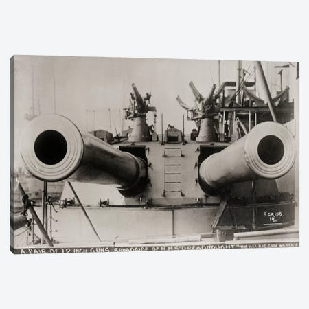 Broadside of HMS Dreadnought Canvas Print #PCA118} by Print Collection Art Print