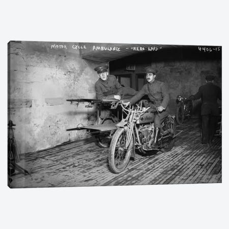 Indian Motor Cycle Ambulance Canvas Print #PCA121} by Print Collection Canvas Wall Art