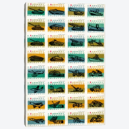 Warsaw Pact Forces, Safety Match Sheet Canvas Print #PCA123} by Print Collection Canvas Artwork