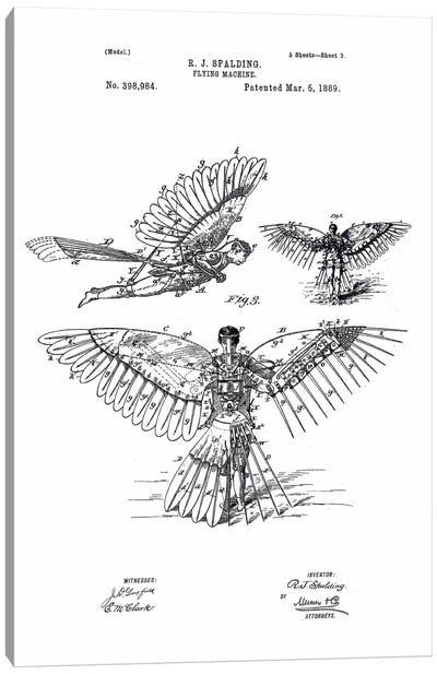 Flying Machine, R. J. Spalding Canvas Print #PCA126