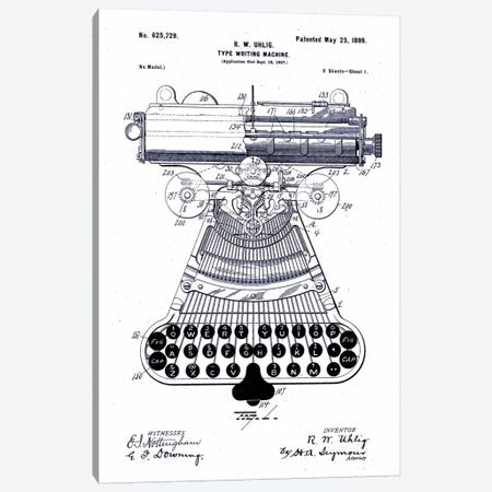 Type Writing Machine, Patented 1899 Canvas Print #PCA130} by Print Collection Art Print
