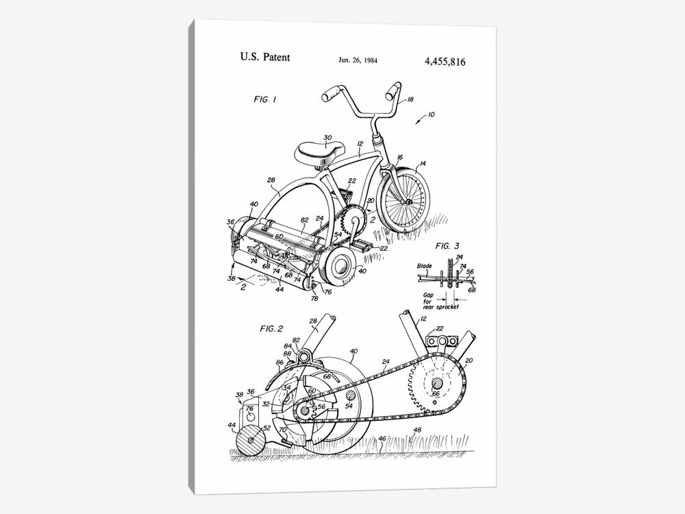 Pedal Operated Mower, No Fossil Fuels Used by Print Collection 1-piece Canvas Art Print