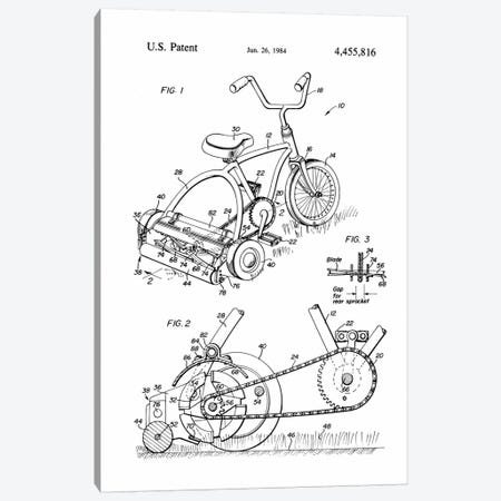 Pedal Operated Mower, No Fossil Fuels Used Canvas Print #PCA132} by Print Collection Canvas Print