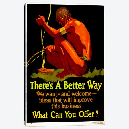 There's A Better Way Canvas Print #PCA138} by Print Collection Art Print