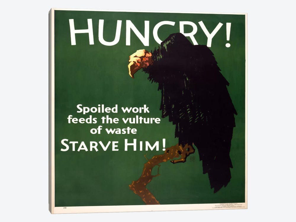 Hungry! Starve Him! 1-piece Canvas Art Print
