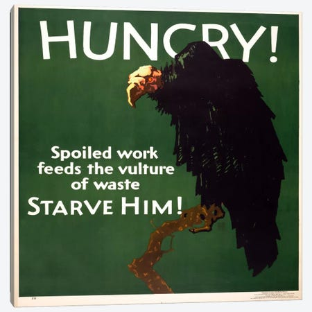 Hungry! Starve Him! Canvas Print #PCA141} by Print Collection Canvas Art
