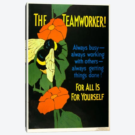 The Teamworker! Canvas Print #PCA142} by Print Collection Canvas Artwork